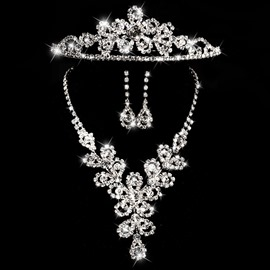 Ericdress Shiny Rhinestone Alloy Wedding Jewel Set