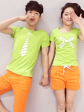 Ericdress Candy Color Couple Suits