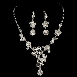 Ericdress Amazing Rhinestone Flowers Wedding Jewelry Set