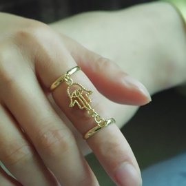 Concise Tassels Decorated Ring
