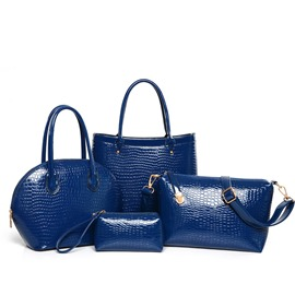 Ericdress Stylish All-Match Croco PU Handbag (4 Bags)