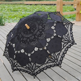 Ericdress High Quality Handmade Black Wedding Umbrella