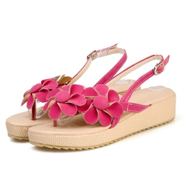 Flower Petal Decoration Flat Sandals