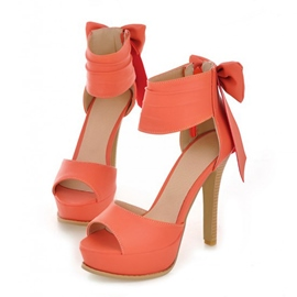 Brilliant Bowtie Peep-toe Stiletto Sandals