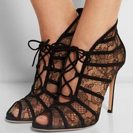 Ericdress Lace Hollow Out Stiletto Sandals