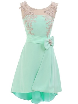 Ericdress Neckholder a-Linie Bowknot Applikationen Homecoming Kleid