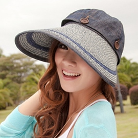 Ericdress Casual Ultraviolet-Proof Wide Brim Sunhat