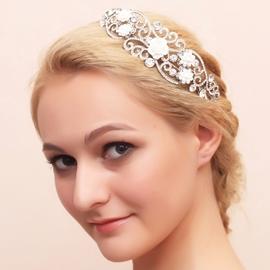 Ericdress Fancy Alloy Flowers Wedding Tiara