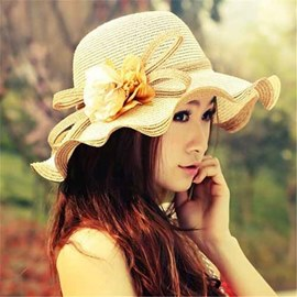 Ericdress Cute Wave Brim Sunhat