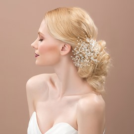 Ericdress Pretty Beading Hair Flower