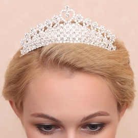 Ericdress Amazing Rhinestone Diamante Heart Shaped Wedding Tiara