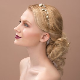 Ericdress Charming Pearls Hair Flower