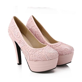 Lace Print Simple Pumps