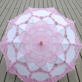 Ericdress Pink Handmade Wedding Umbrella