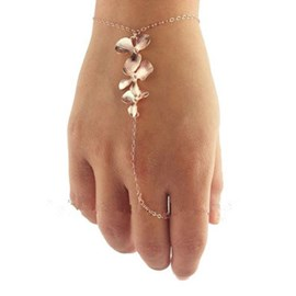 Concise Orchid Decorated Bracelet