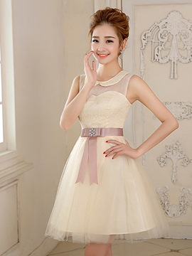 Ericdress A-Line Peter Bowknot Pan Collar Homecoming/Sweet 16 Dress