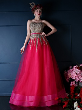 Ericdress Sweetheart Sequins Lace-Up Long Quinceanera Dress
