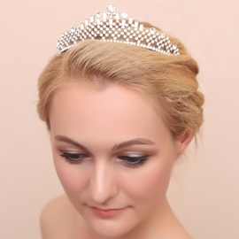 Ericdress Shiny Rhinestone Diamante Alloy Wedding Tiara