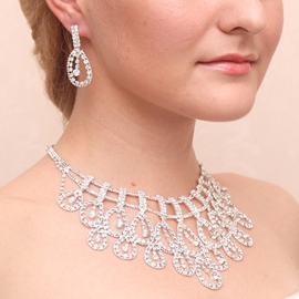 Ericdress Gorgeous Rhinestone Alloy Wedding Jewelry Set (Including Necklace and Earrings)
