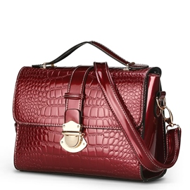 Ericdress Briefcase Style Hasp Croco Shoulder Bag