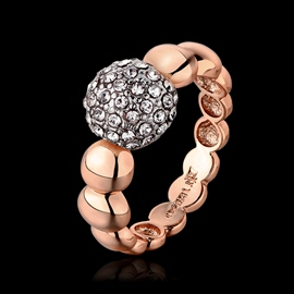 Ball Shaped with Little Rhinestone Ring