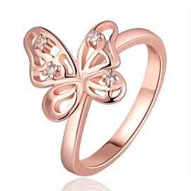 Delicate Butterfly Decorated Ring