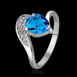 Exquisite Water-drop Shaped Ring