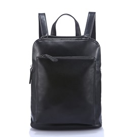 Ericdress Stylish All-Match Simple Solid Color PU Backpack