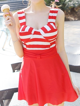 Ericdress Stripe Color Block Swimwear
