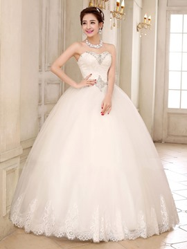 Ericdress Charming Sweetheart Lace up Ball Gown Wedding Dress
