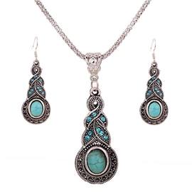 Ericdress Vintage Geometric Diamante Jewelry Sets