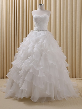 Ericdress Simple Ruffles Ball Gown Wedding Dress
