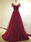 Ericdress A-Line Bowknot Beaded Floor-Length Evening Dress