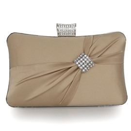Ericdress Ladylike Diamante Pleated Evening Clutches