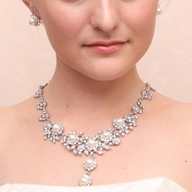 Ericdress Charming Pearls Alloy Wedding Jewelry Set