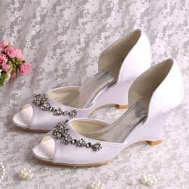 Ericdress Comfortable Wedge Heel Rhinestone Wedding Shoes