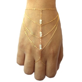 Little Beads Decorated Multi-layers Alloy Bracelet