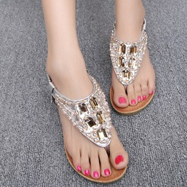 Bohemian Fashion Rhinestone Wedge Sandals