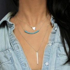 Ericdress Chic Three-Layer Long Charm Necklace