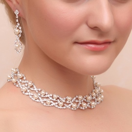 Ericdress Pretty Pearls Rhinestone Wedding Jewel Sets