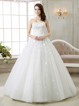 Ericdress Elegant Sweetheart Flowers Wedding Dress