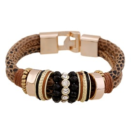 Ericdress Stylish All-Match Diamante PU Bracelet