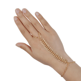 Ericdress Chic Golden Ring Bracelet