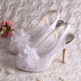 Ericdress Pretty Flower Lace High Heel Wedding Shoes