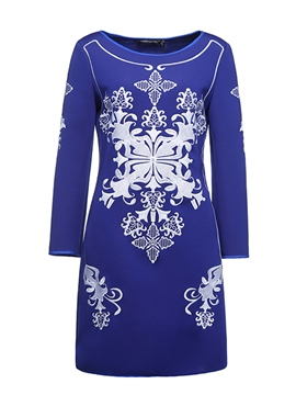 Ericdress Embroidery Long Sleeves Short Party Dress