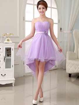 Ericdress Sweetheart Asymmetric-Length Flower A-line Homecoming Dress