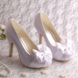 Ericdress Pretty Bowknot High Heel Wedding Shoes