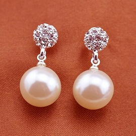 Ericdress Pearl Ball Design Earrings