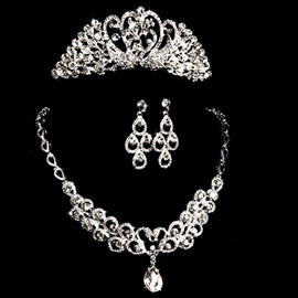 Ericdress Hot Sell Alloy Rhinestone Bridal Tiara With Comb