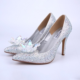 Ericdress Bright Sliver Crystal Wedding Shoes